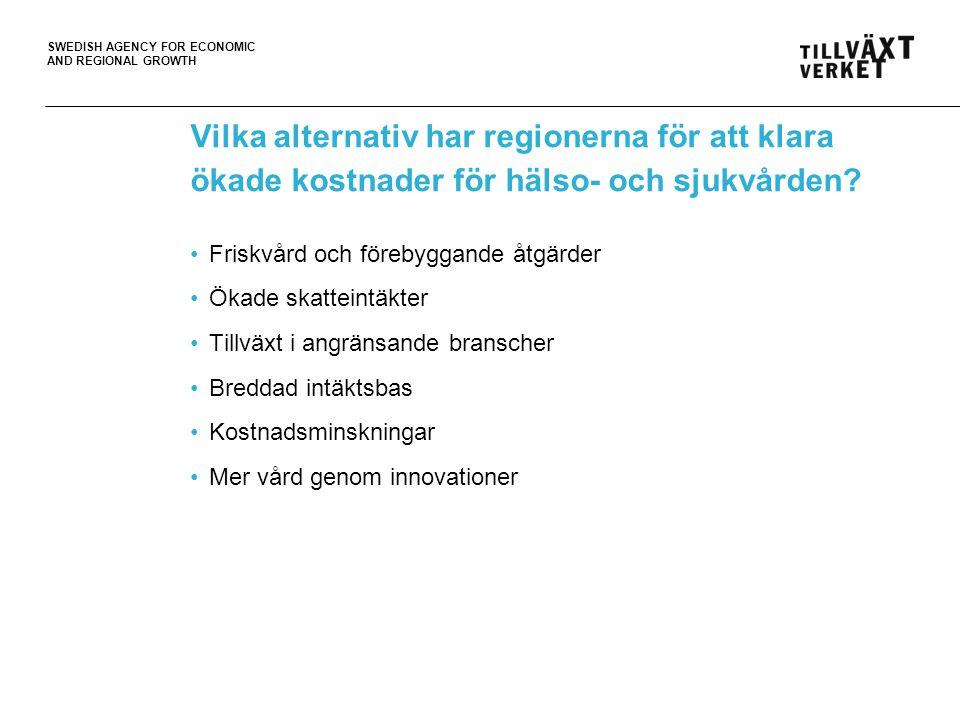 Vilka alternativ har regionerna för att klara ökade kostnader för hälso- och sjukvården