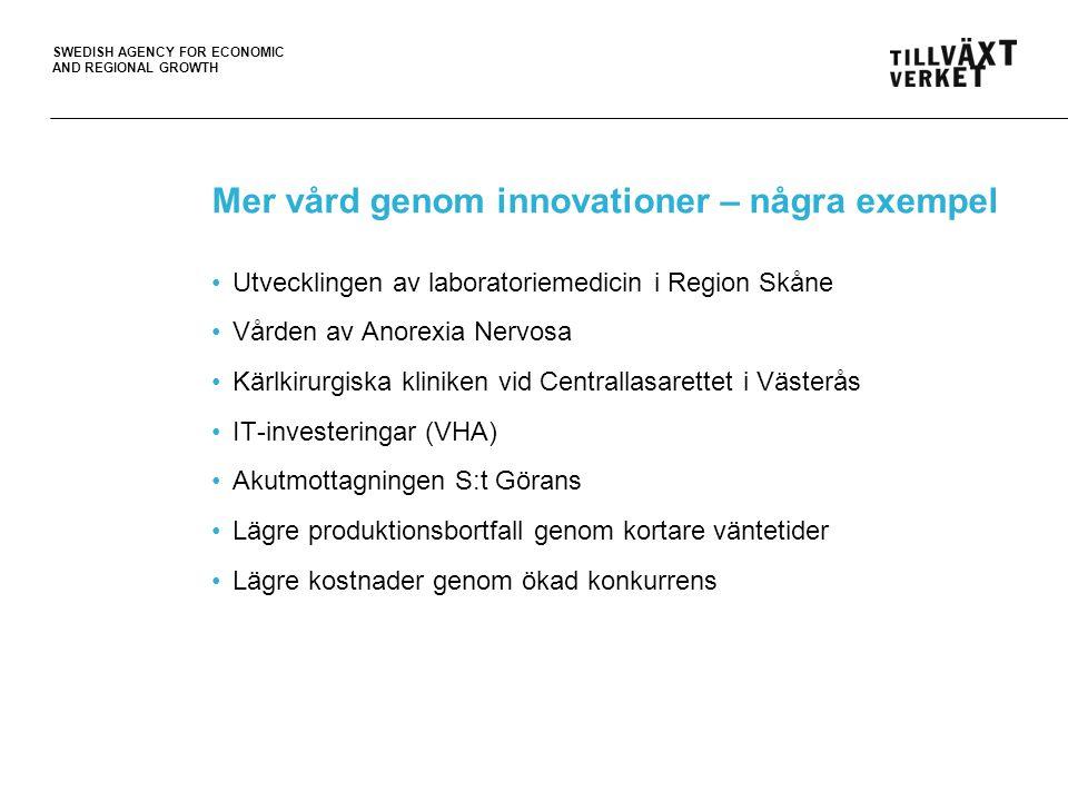 Mer vård genom innovationer – några exempel
