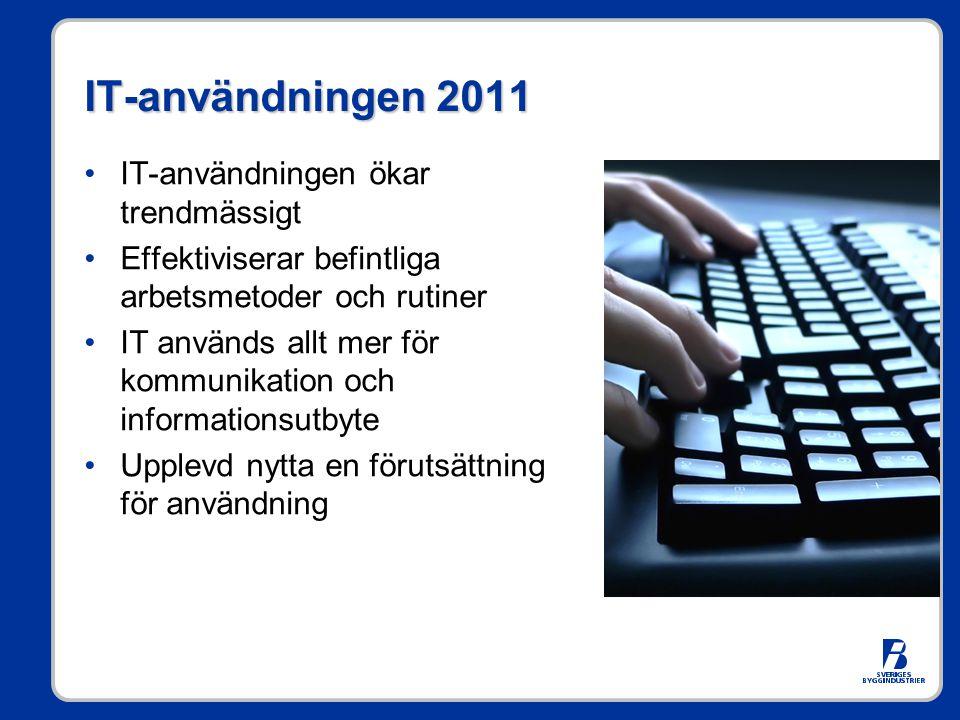 IT-användningen 2011 IT-användningen ökar trendmässigt