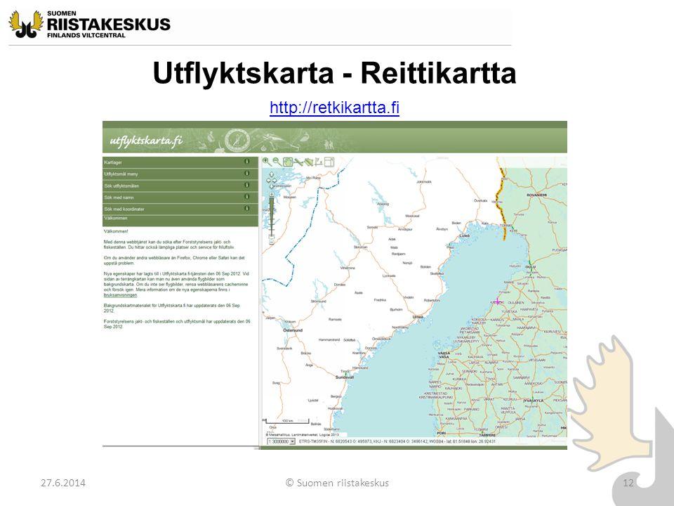 Utflyktskarta - Reittikartta