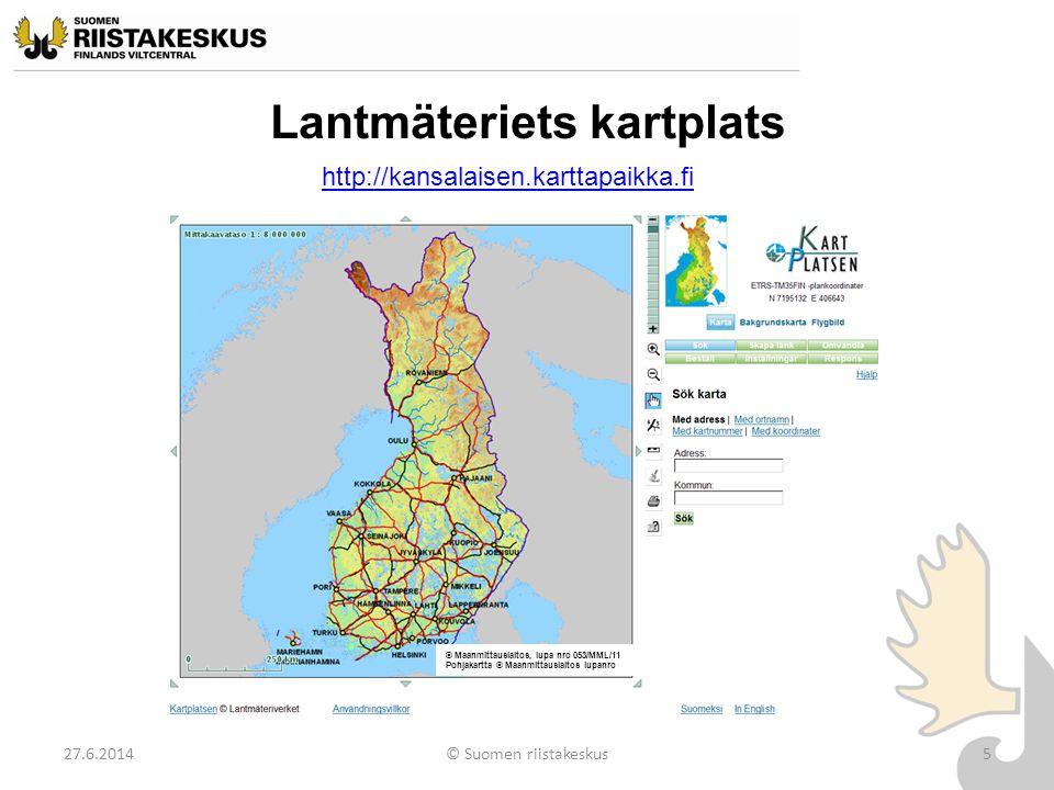 Lantmäteriets kartplats