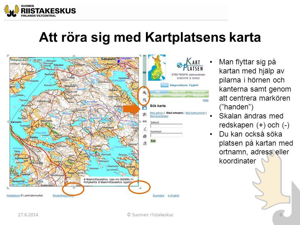 Att röra sig med Kartplatsens karta
