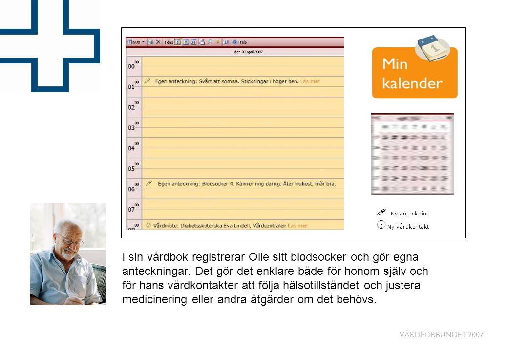 ! Ny anteckning ˆ Ny vårdkontakt.