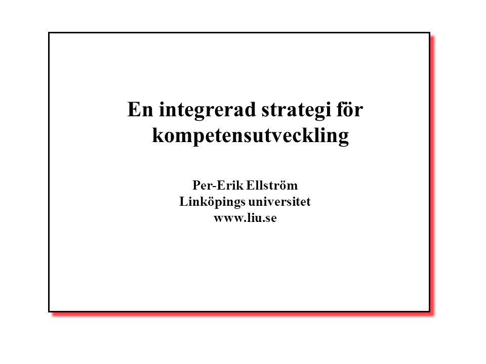 En integrerad strategi för kompetensutveckling Linköpings universitet
