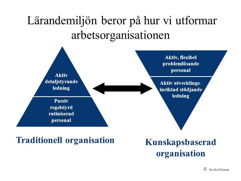 Lärandemiljön beror på hur vi utformar arbetsorganisationen