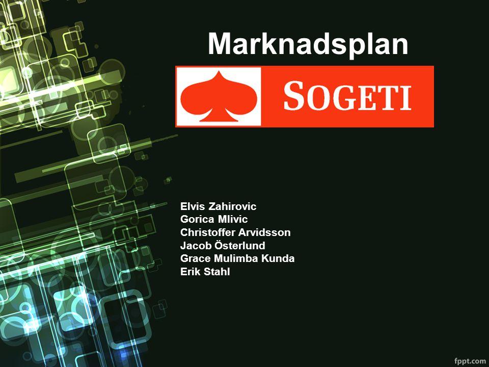 Marknadsplan Elvis Zahirovic Gorica Mlivic Christoffer Arvidsson