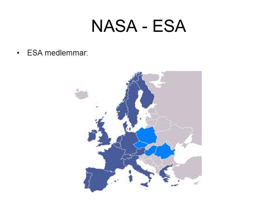 NASA - ESA ESA medlemmar: