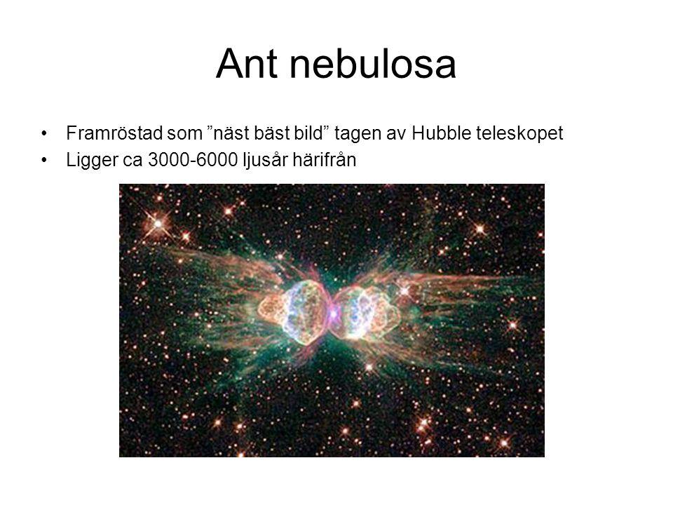 Ant nebulosa Framröstad som näst bäst bild tagen av Hubble teleskopet.