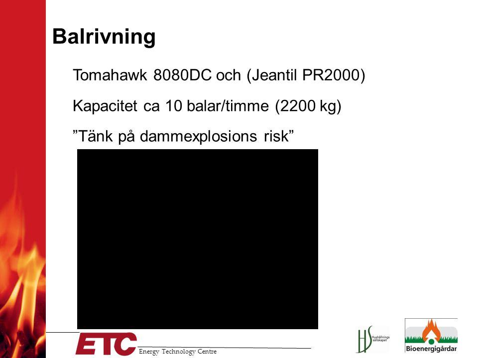 Balrivning Tomahawk 8080DC och (Jeantil PR2000)