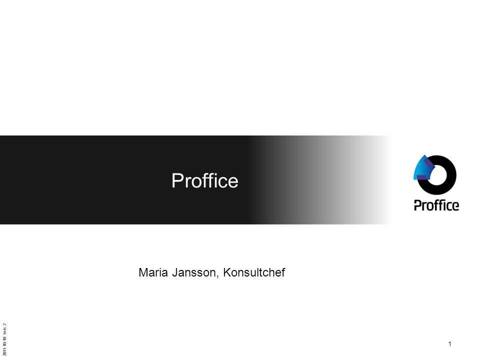 Proffice Maria Jansson, Konsultchef