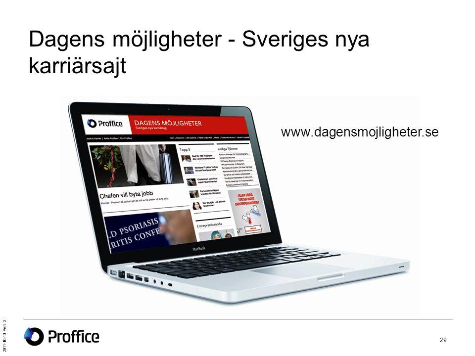Dagens möjligheter - Sveriges nya karriärsajt