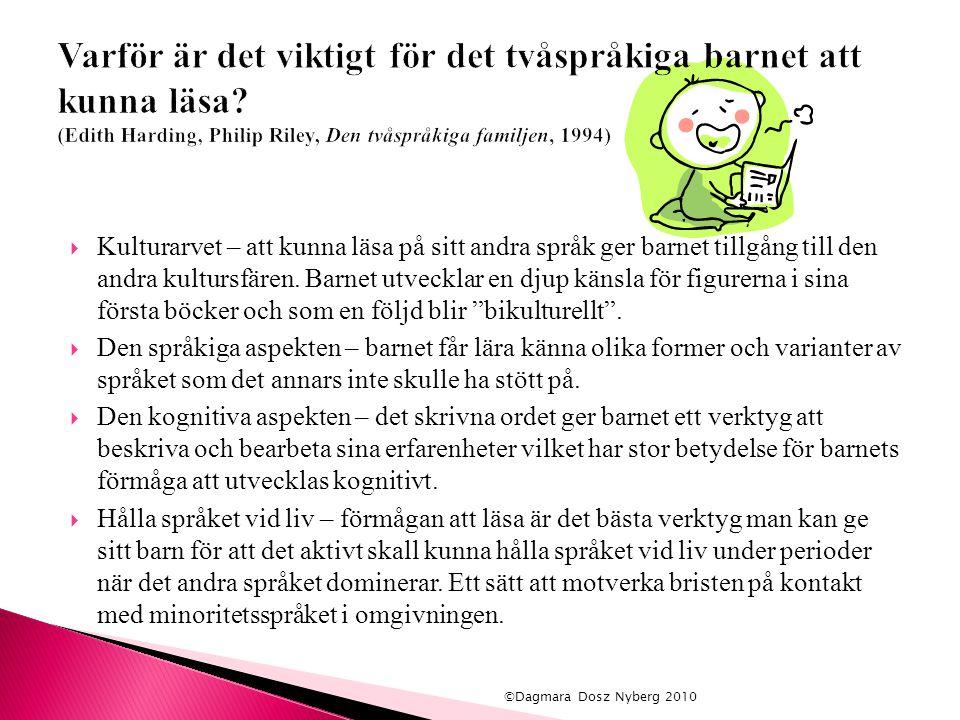 Varför är det viktigt för det tvåspråkiga barnet att kunna läsa