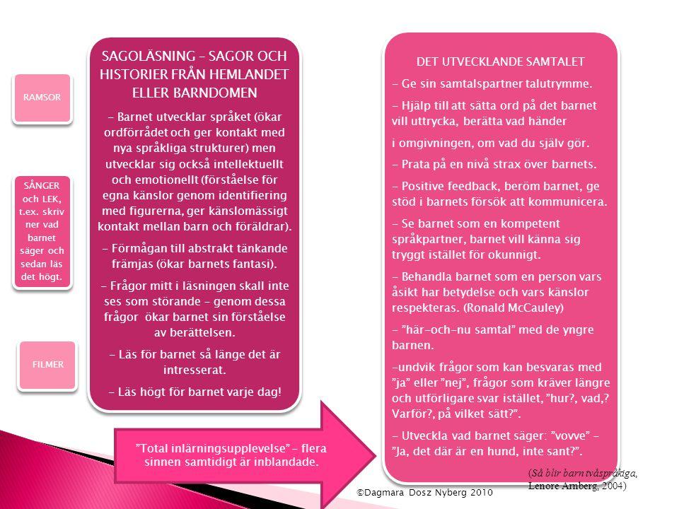 SAGOLÄSNING – SAGOR OCH HISTORIER FRÅN HEMLANDET ELLER BARNDOMEN