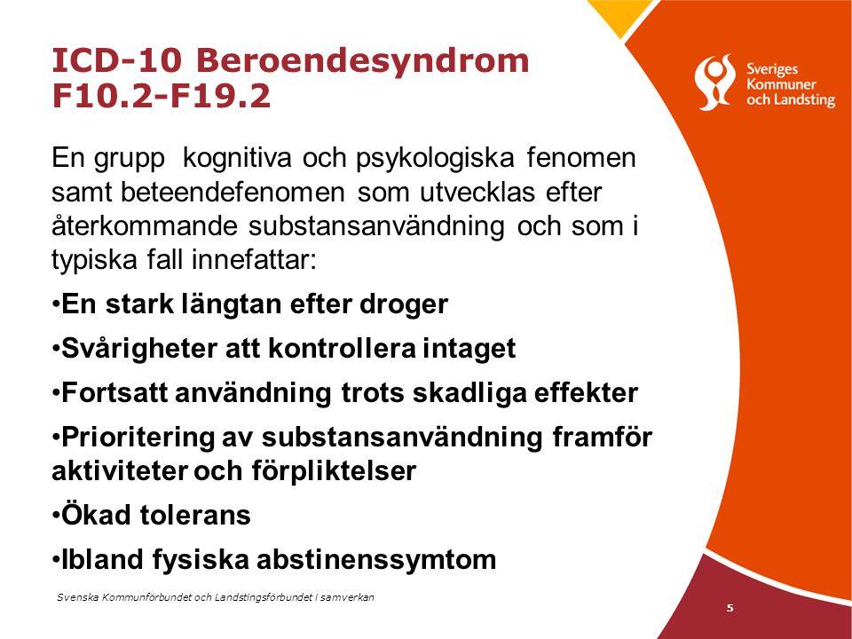 ICD-10 Beroendesyndrom F10.2-F19.2