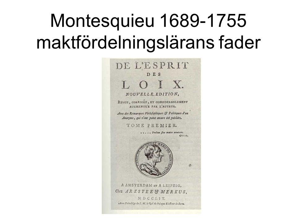 Montesquieu 1689-1755 maktfördelningslärans fader