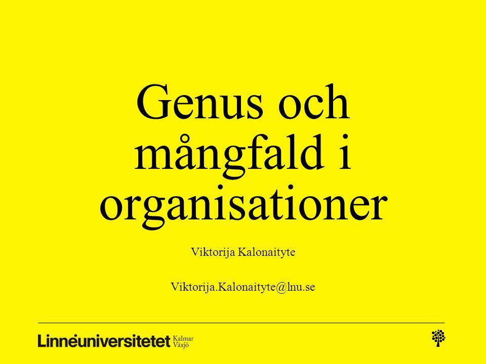 Genus och mångfald i organisationer