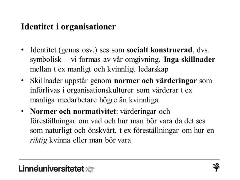 Identitet i organisationer