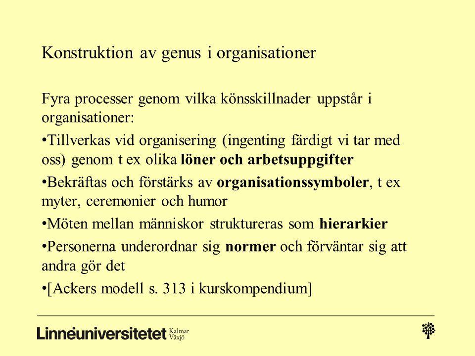 Konstruktion av genus i organisationer