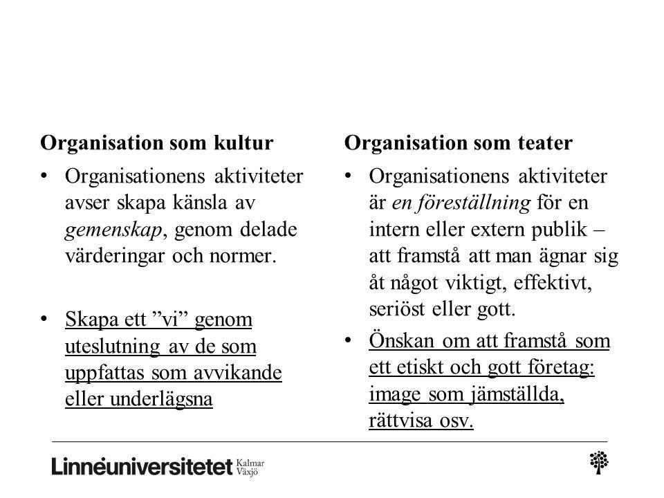 Organisation som kultur