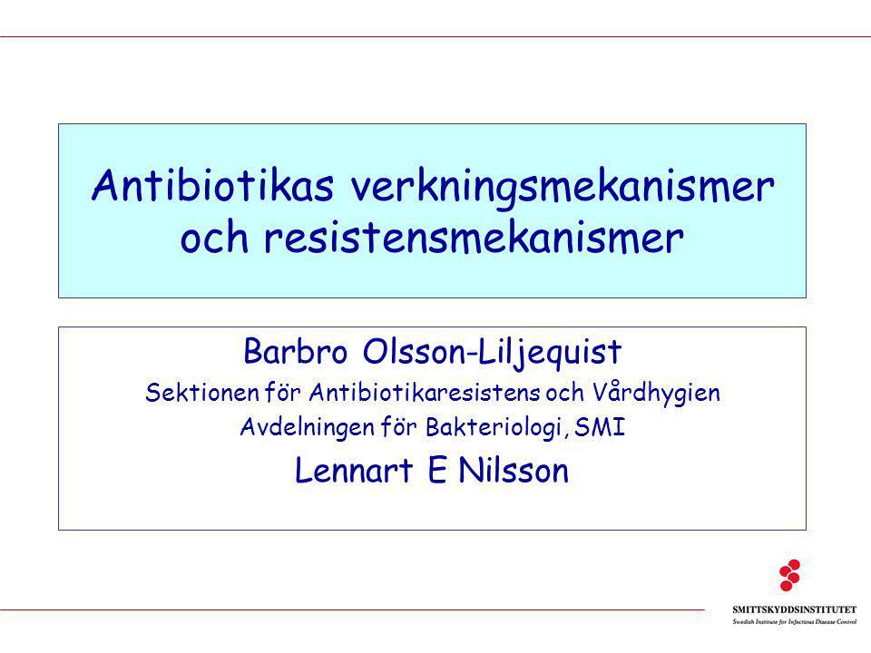 Antibiotikas verkningsmekanismer och resistensmekanismer