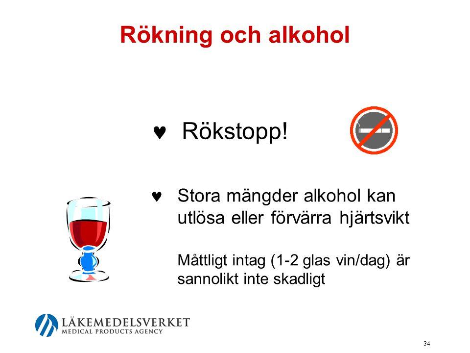 Rökning och alkohol Rökstopp!