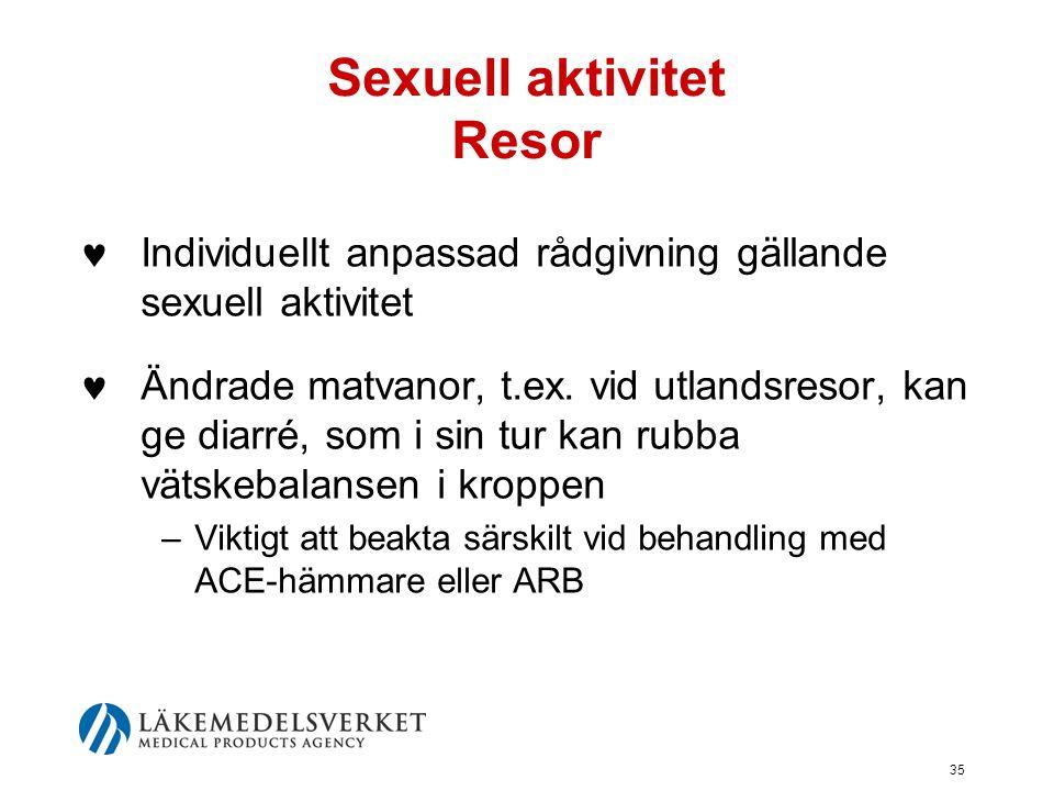 Sexuell aktivitet Resor