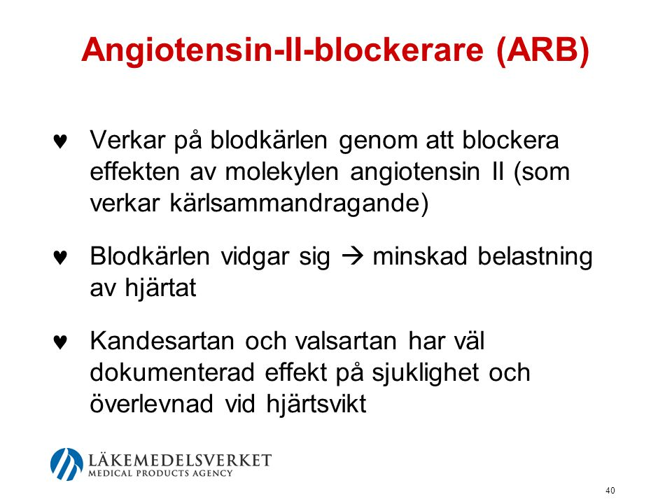 Angiotensin-II-blockerare (ARB)