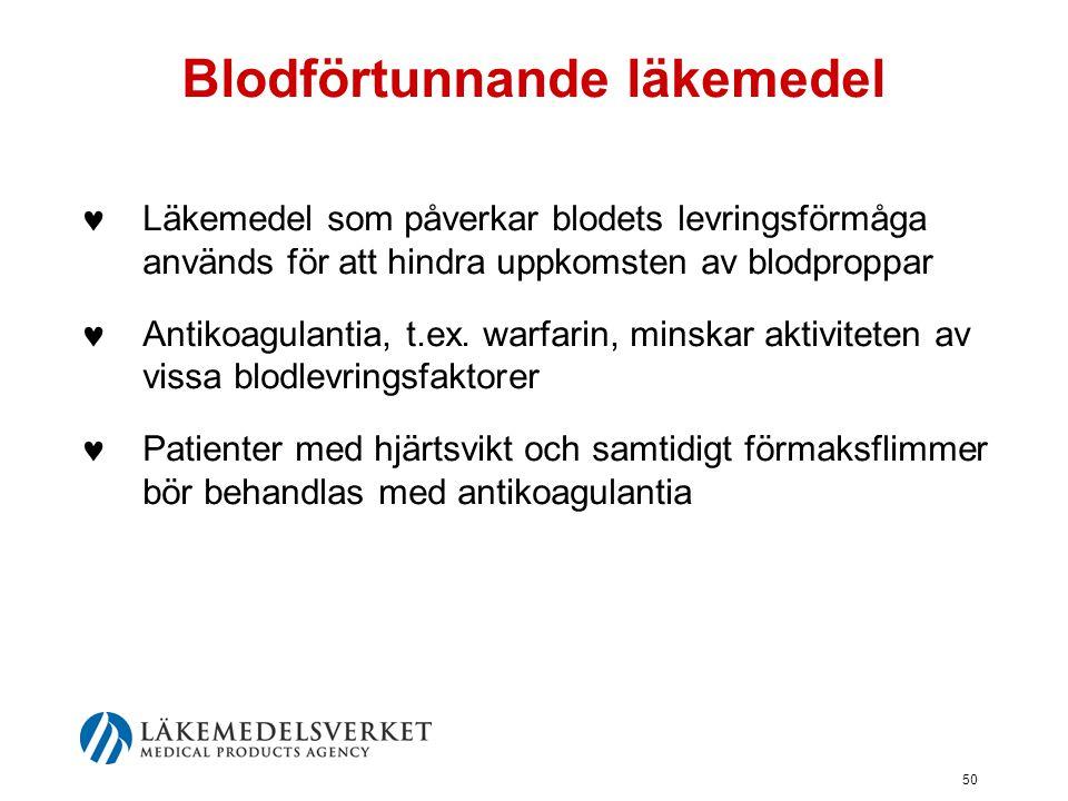 Blodförtunnande läkemedel