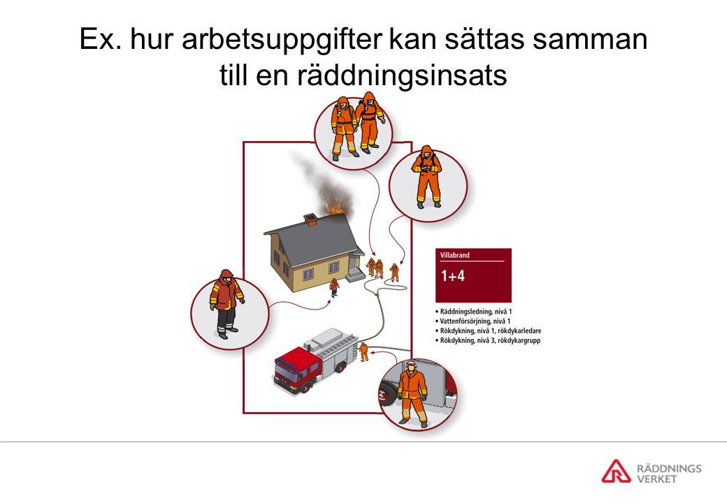 Ex. hur arbetsuppgifter kan sättas samman till en räddningsinsats