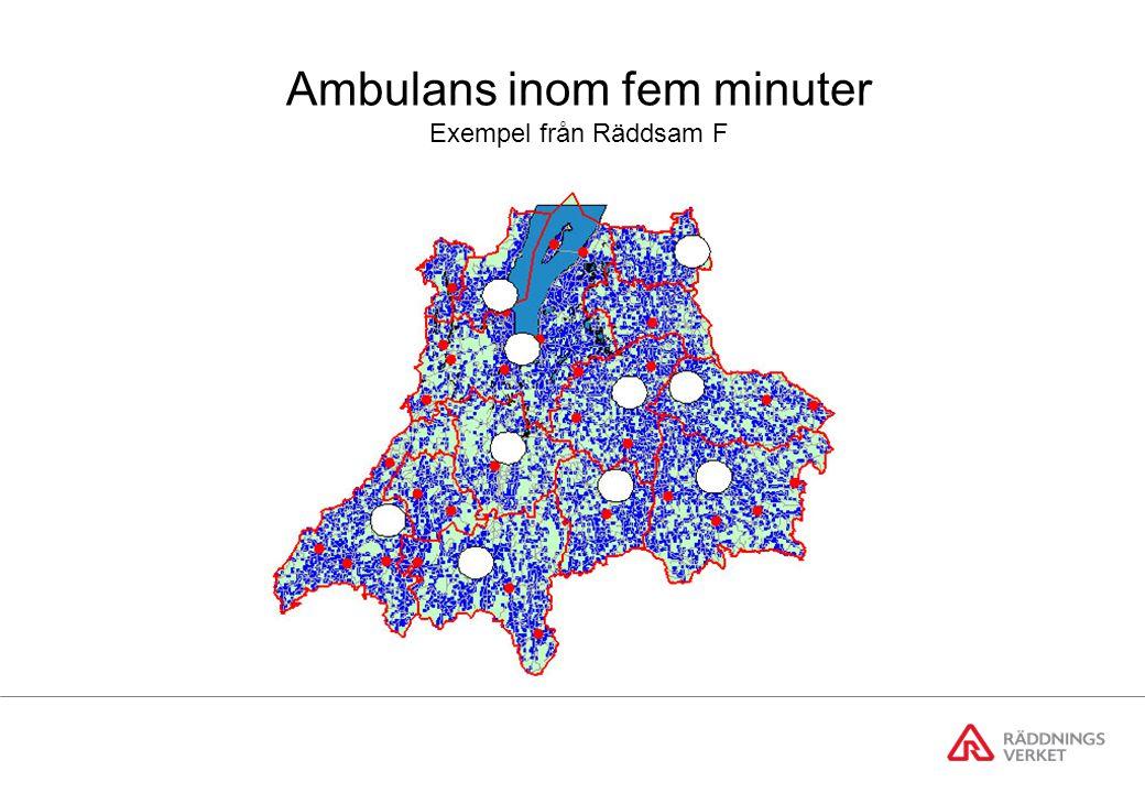 Ambulans inom fem minuter Exempel från Räddsam F