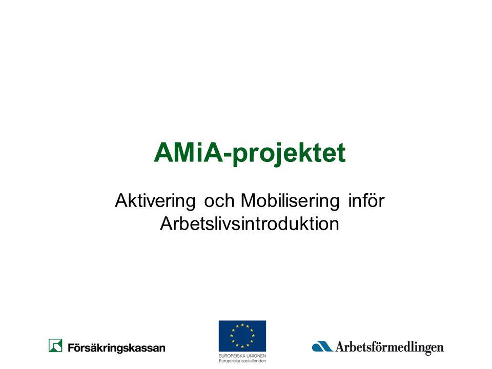 Aktivering och Mobilisering inför Arbetslivsintroduktion