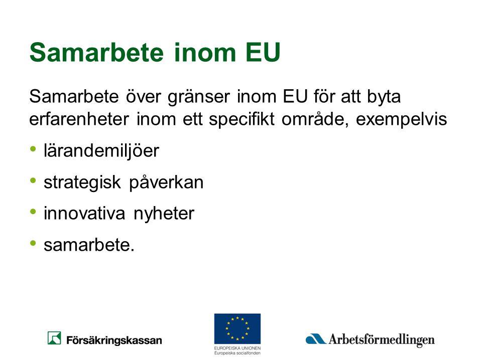 Samarbete inom EU Samarbete över gränser inom EU för att byta