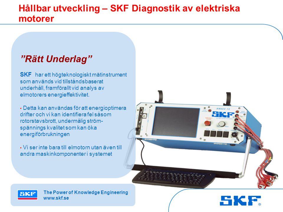 Hållbar utveckling – SKF Diagnostik av elektriska motorer