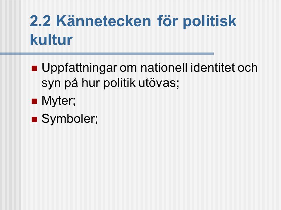 2.2 Kännetecken för politisk kultur