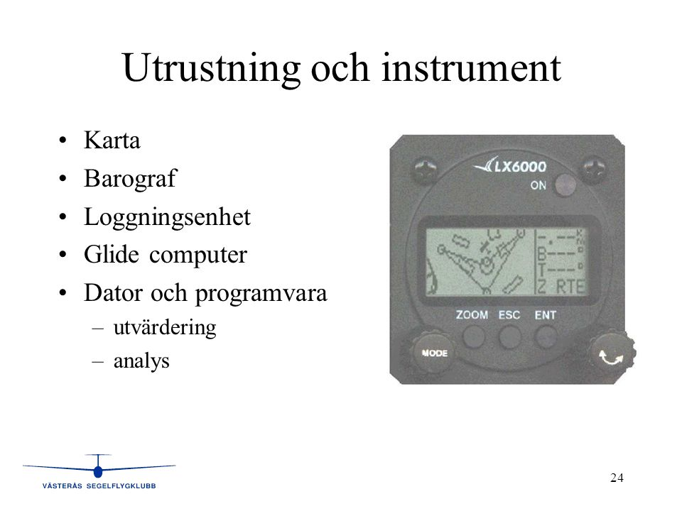 Utrustning och instrument