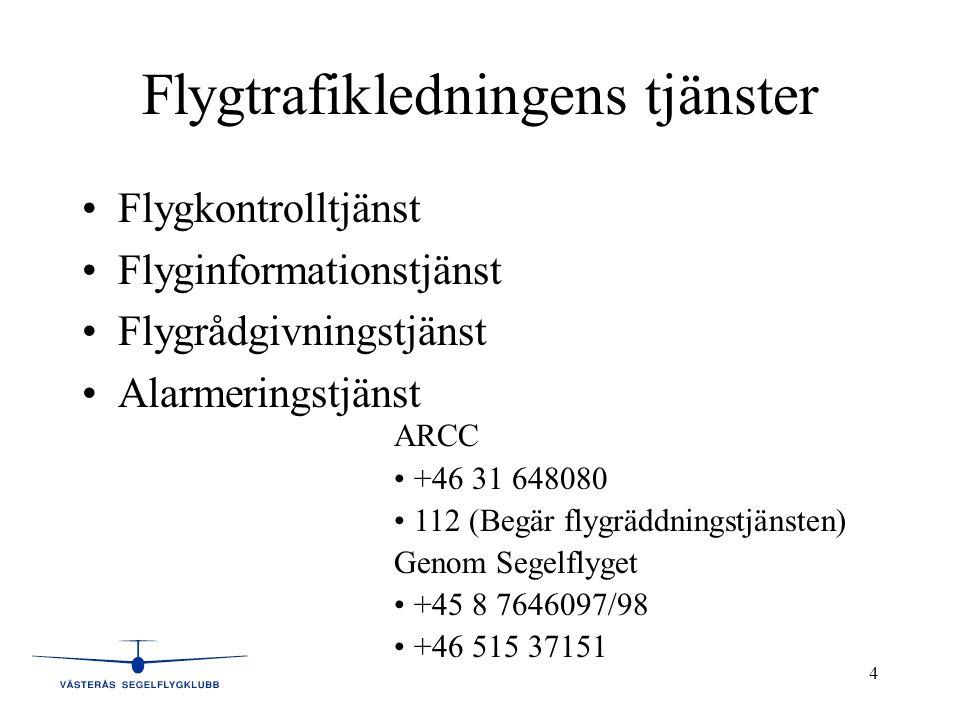 Flygtrafikledningens tjänster