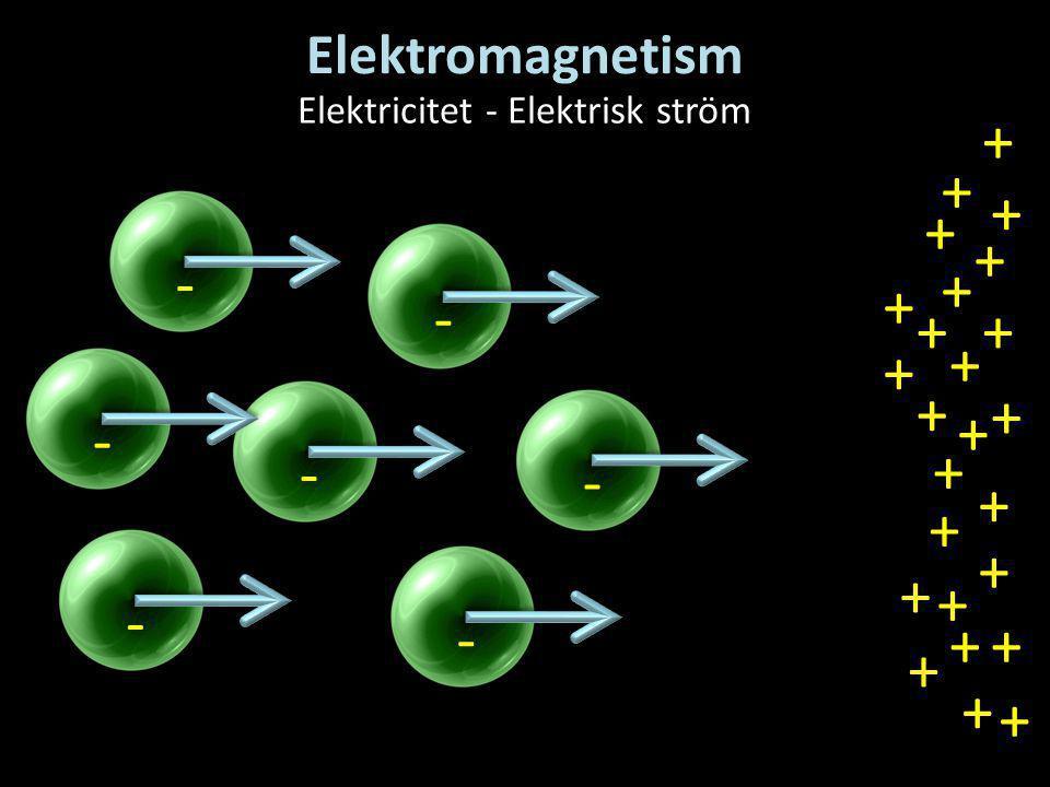 Elektricitet - Elektrisk ström