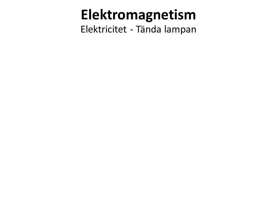 Elektricitet - Tända lampan