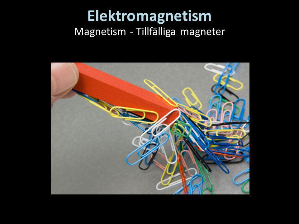 Magnetism - Tillfälliga magneter