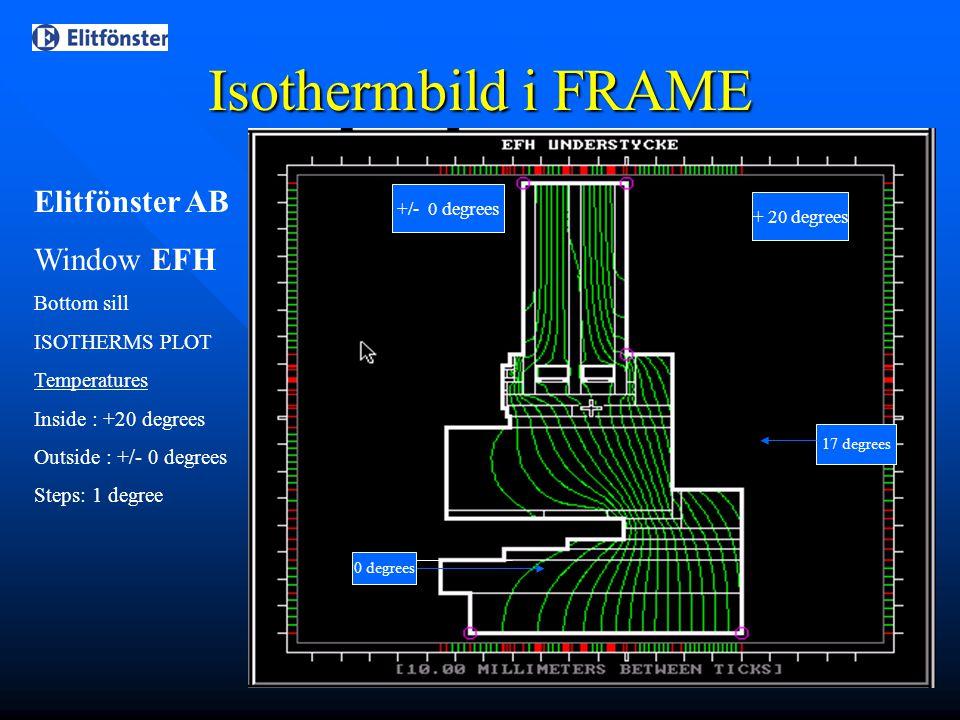 Isothermbild i FRAME Elitfönster AB Window EFH Bottom sill