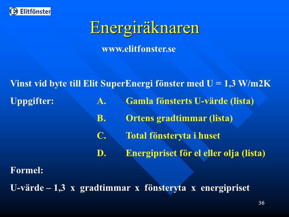 Energiräknaren www.elitfonster.se