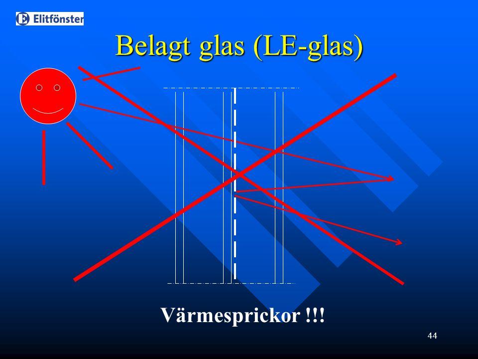 Belagt glas (LE-glas) Värmesprickor !!!