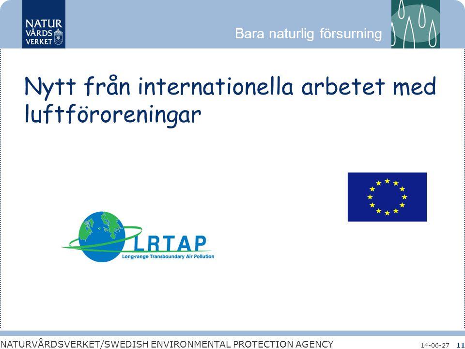 Nytt från internationella arbetet med luftföroreningar