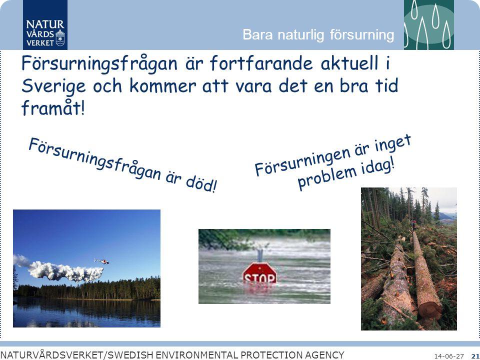 Försurningsfrågan är fortfarande aktuell i Sverige och kommer att vara det en bra tid framåt!