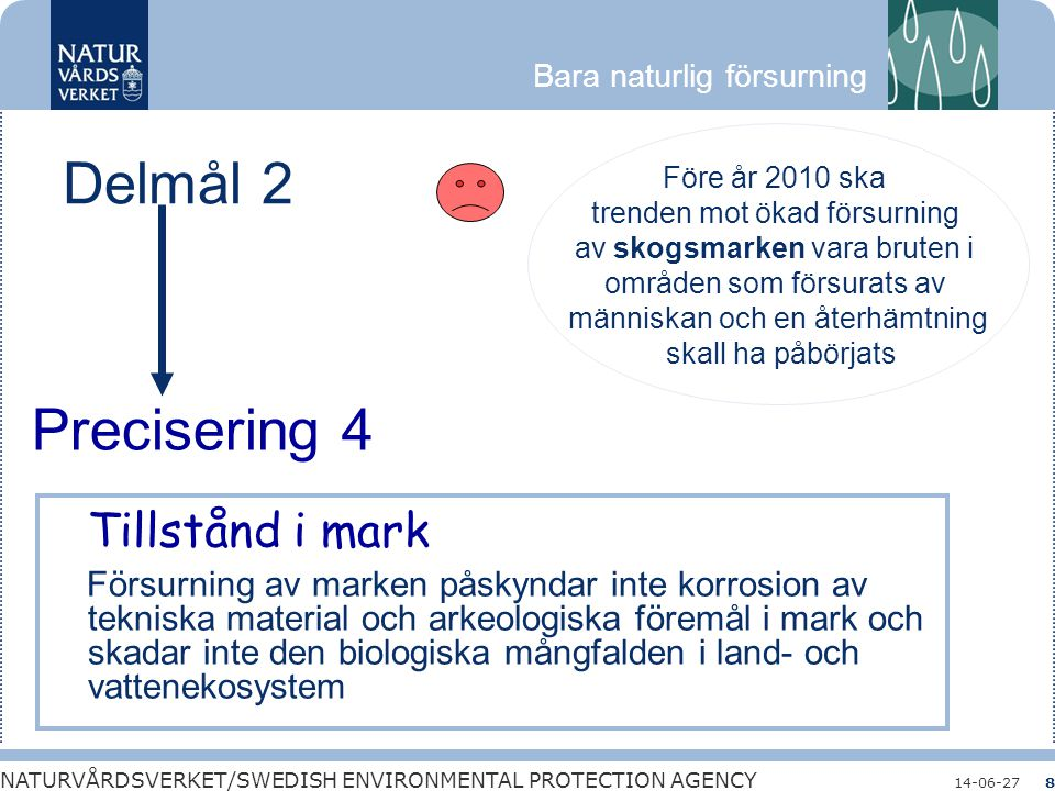 Tillstånd i mark Delmål 2 Precisering 4