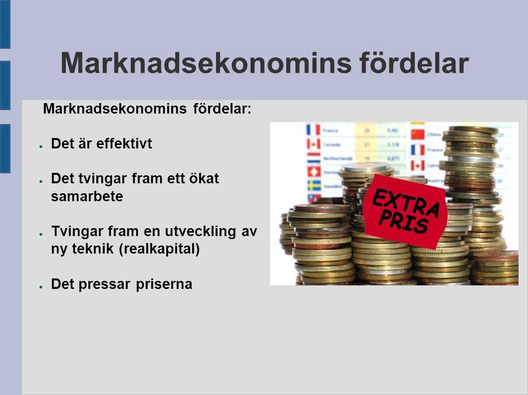 Marknadsekonomins fördelar