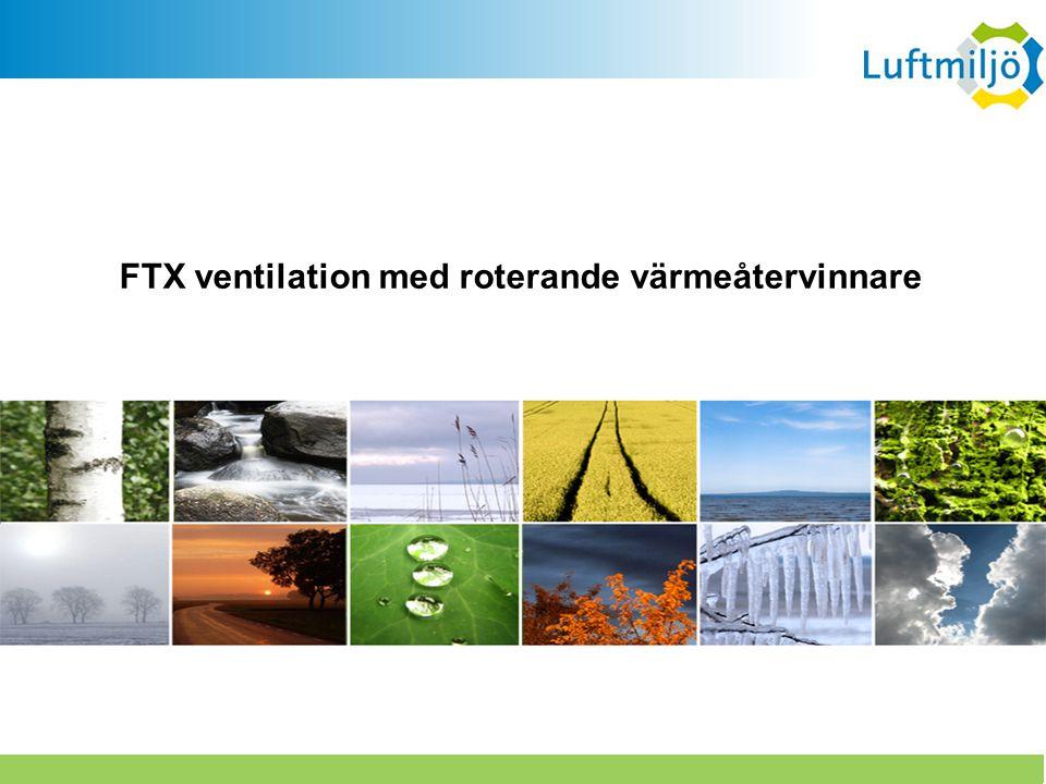 FTX ventilation med roterande värmeåtervinnare