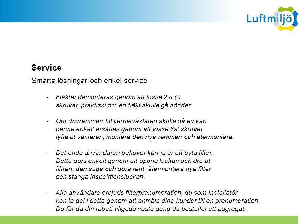 Service Smarta lösningar och enkel service