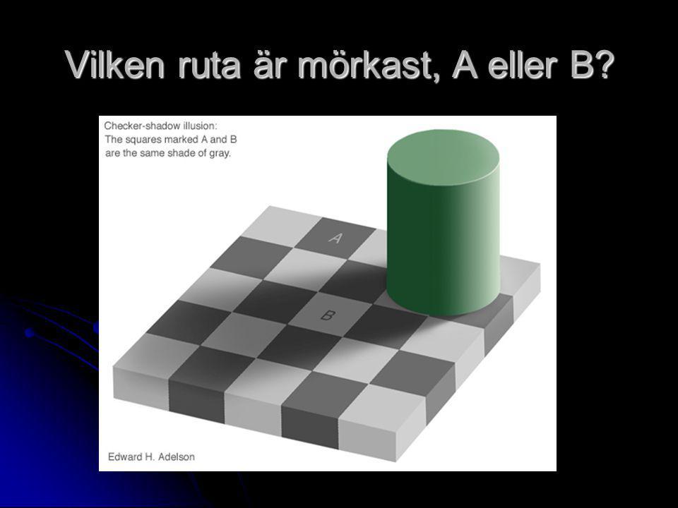 Vilken ruta är mörkast, A eller B