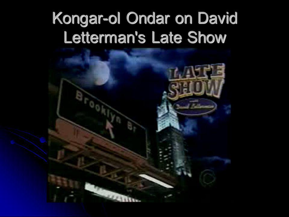 Kongar-ol Ondar on David Letterman s Late Show